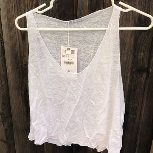 Zara Tops - White Tank